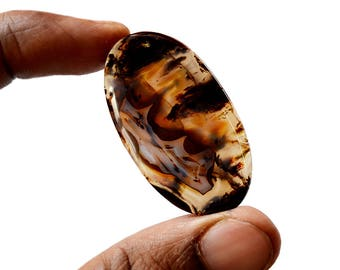 Montana Agate 46 Ct Oval Shape beautiful Natural Gemstone Cabochon 43x24x5 MM R14517