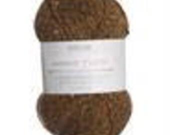 Harrap Tweed by Sirdar.  Washable wool/nylon blend yarn.  DK weight