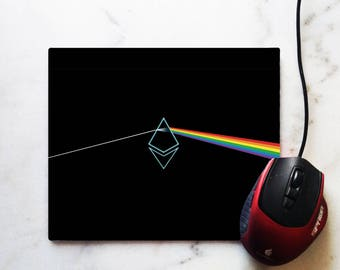 Ethereum - Dark side on the moon - Cryptocurrency - Mouse Pad - Perfect Gift for anybody that loves bitcoin and cryptocurrency