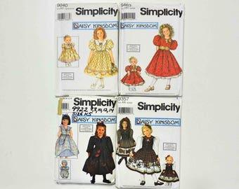 Simplicity Daisy Kingdom Girls and Dolls Matching Dress Sewing Patterns 9040 9922 9463 9357