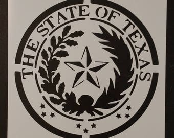 State Seal of Texas Custom Stencil FAST FREE SHIPPING