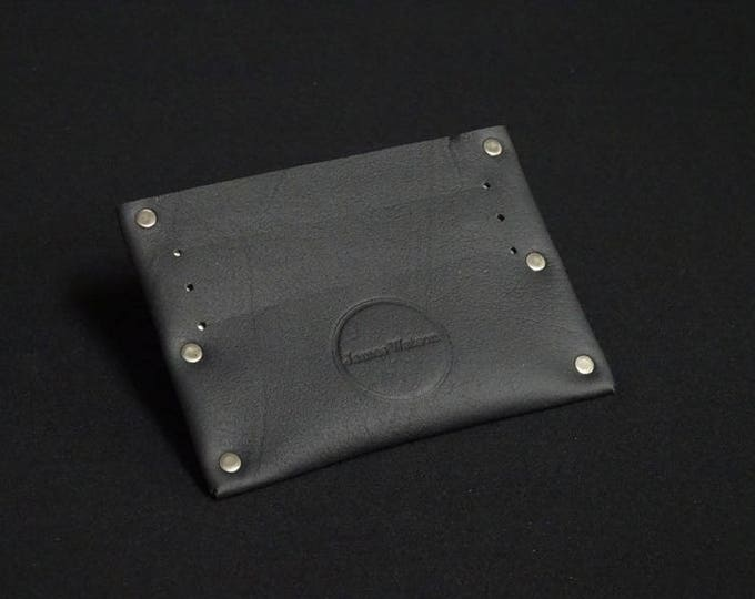 Single 6 Wallet - Black - Kangaroo leather with RFID credit card blocking - Handmade - Mens/Womens - James Watson