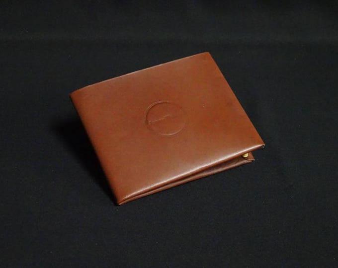 8Pocket Wallet - Brown Tan - Kangaroo leather with RFID credit card blocking - Handmade - James Watson