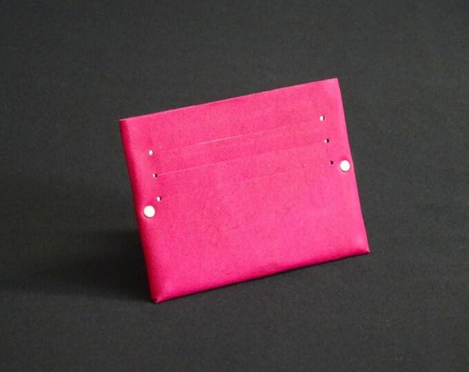 Single6 Wallet - Rich Pink - Kangaroo leather with RFID credit card blocking - Handmade - Mens/Womens - James Watson