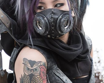 Steampunk cyberpunk mask mask leather