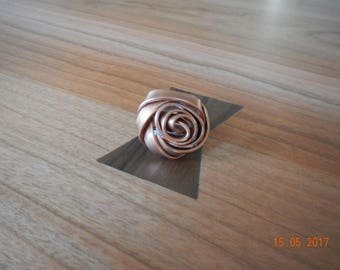 A Rose is a Rose is a Rose Copper-tone Aluminum Wrap Ring