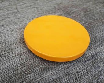 Yellow double handbag mirror
