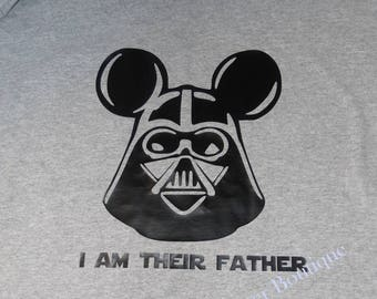 Darth Vader, I am their Father, Disney Shirt, Dad Disney Shirt, Disney Vacation, Mickey Mouse Ears, Star Wars