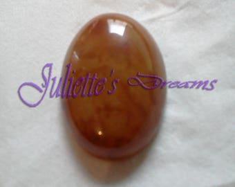 Agate oval cabochon natural grade a - orange - 2 062