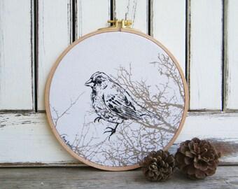 Bird Hoop art, Bird print, Bird Decor, Embriodery hoops, Living Room Decor, Farmhouse Decor, Woodland Animals, Bedroom Decor, Gift Idea