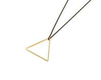Vintage Brass Large Triangle
