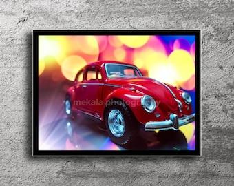 Car Photography Classic Car Photography Car Poster Car Print Beetle Poster  Garage Decor Car Photo Classic
