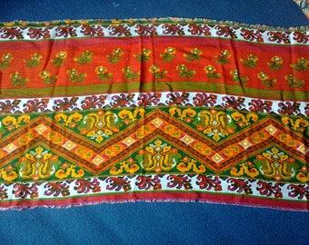 Bright vintage retro fabric - 25 x 47 inches
