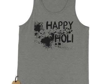 Happy Holi Indian Hindu Spring Festival Jersey Tank Top for Men