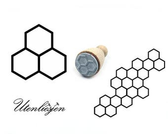 Stamp honeycomb Ø 22 mm, bee