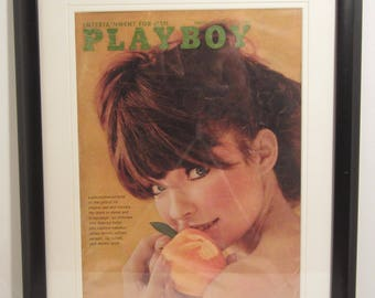 Vintage Playboy Magazine Cover Matted Framed : February 1966 - Sissy
