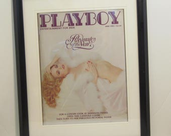 Vintage Playboy Magazine Cover Matted Framed : June 1982 - Shannon Tweed