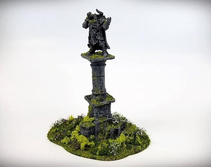 Wargame Terrain - Ruined Column Pedestal – UNPAINTED kit - Miniature Wargaming & RPG terrain