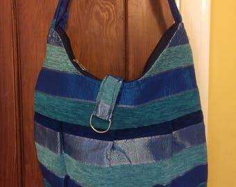 Gorgeous blue single strap hand made shoulder bag