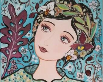 Garden of Eden - canvas - feminine - romantic