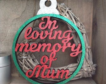 In loving memory Personalised Christmas Bauble Large 15cm by Duck Duck Goose