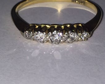 Five-Stone Diamond Ring in 18K Yellow Gold with valuation
