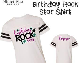 Toddler Birthday Rock Star Shirt, birthday shirt, toddler birthday, toddler clothes, personalized birthday shirt