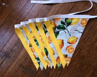 LEMONS BUNTING BANNER Garland,Lemonade Stand Decor,Photo Prop Backdrop,Birthday Party Decor,Bunting Flag Pendant Banner,Summer Decor,Lemons