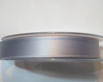Double faced luxury 16 mm, light grey satin ribbon