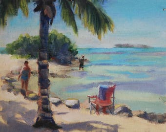 Landscape painting, Beach painting, Oil Painting, original paintings, Florida, Plein Air, Oil Paintings, Original Oil on Canvas Sue Whitney