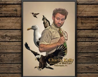 Charlie Kelly: Attorney at Bird Law - It's Always Sunny in Philadelphia - Wall Art - Color Pencil Portrait Poster Print