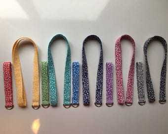 Floral Vibrant Colored Lanyards- Full and Wristlet Lengths