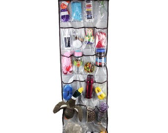 22 Transparent Pockets Space-saving  Door Chest Hanging Organizer Storage Tidy Bag(CTJZ21HGO22Grey)