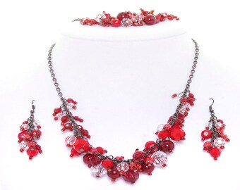 Cluster Necklace Set