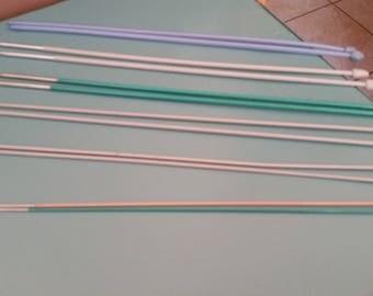 set of knitting needles