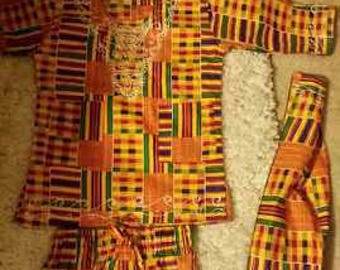 Kente cloth set for a princess