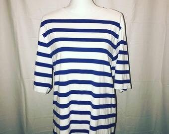 Vintage 1990's Stripe Shirt / size medium / by The J Peterman Company