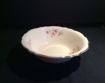 A Homer and Laughlin Virginia Rose vegetable bowl.