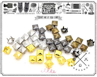 100pcs 1/4inch Tiny Decorative Pyramid Studs Spot Nailhead