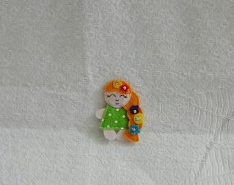 Doll, little doll, gift for girl, dolls, present, birthday, doll from felt
