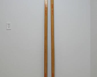 Vintage Toppen Wood Snow Skis Norway