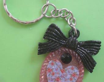 "Key Ring ""Black Ribbon"""