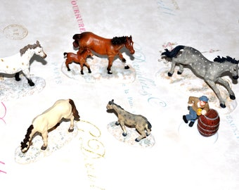 Village Accessories, Village Horses, Village People, DEPT 56 Accessories, Assorted Horses, Train Board Horses, Train Accessories