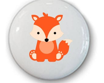 Woodland Drawer Knobs • Forest Animal Knobs • Drawer Pulls • Woodland • Hipster Woodland Knobs • Fox