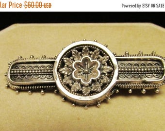 On Sale Victorian Sterling Silver Brooch with English Manufacturers  Hallmarks