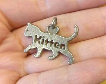 Kitten pendant, kitten jewellery, stainless steel, cat jewellery, cat lover, cat jewellery, 3d printed, cat lover gift