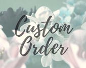 Custom Order: Dusty Blue Peony