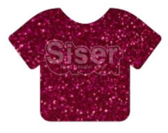 """1 12x20"""" Hot Pink Siser Glitter HTV, Siser Glitter Heat Transfer Vinyl, Hot Pink Glitter HTV"""