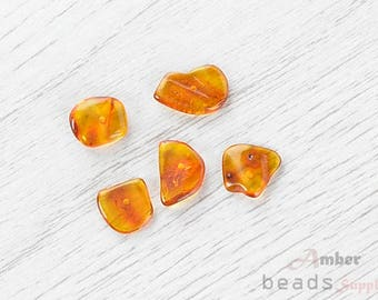 2498/12 // Baltic Amber Beads, 5 pc