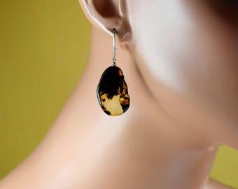 Amber earrings / Baltic amber earrings / Amber jewelry / dangle earrings / polished Baltic Amber Earrings / drop earrings